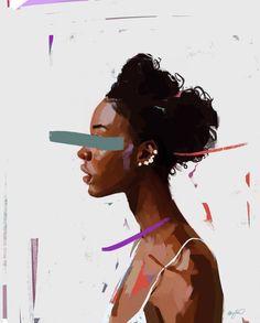 Procreate is the most powerful and intuitive digital illustration app available for iPad. Black Girl Art, Black Women Art, Art Girl, Black Boys, Art Sketches, Art Drawings, Art Et Design, Black Artwork, Graphic Design Trends