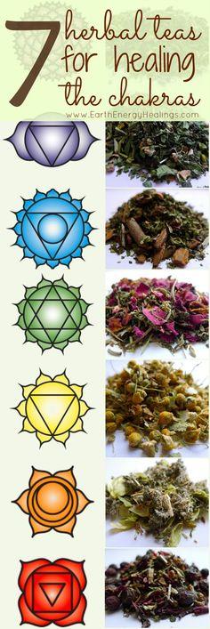 7 infusiones herbales para limpiar los chakras.: