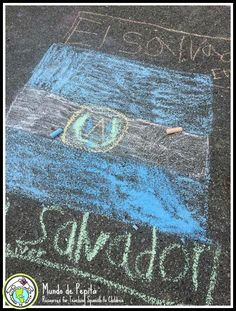 Make chalk flags on the playground with your Spanish classes! Tips on how to do it. #culture Mundo de Pepita, Resources for Teaching Spanish to  Children