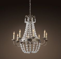 """Marché French Empire Glass Chandelier 24"""""""