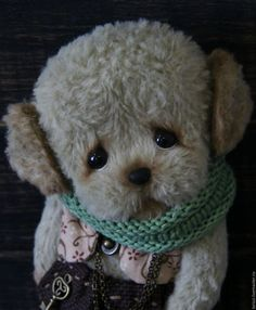Buy or order Pistachio ice cream... Phil... in online shops on My Livemaster. Puppy Teddy Phil.Incredibly touching face got this puppy. Big eyes to watch the baby for us,and so I want to take it to pens,Pat on the head,kiss your nose... Puppy made by all the rules Teddy,from Schulte viscose,hand color.Color light pistachio.