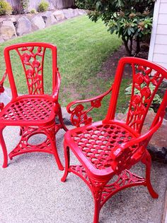 Red Patio Chair 75 outdoor upgrades for under $75 | metal furniture, metallic