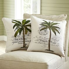 Birch Lane: Farmhouse & Traditional Furniture - Made to Last Traditional Furniture, Traditional Decor, Furniture Making, Home Furniture, Palm Tree Decorations, West Indies Style, Accent Pillows, Throw Pillows