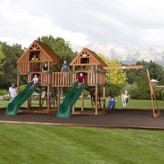 Backyard Discovery Vista Cedar All Cedar Swing Set & Reviews   Wayfair