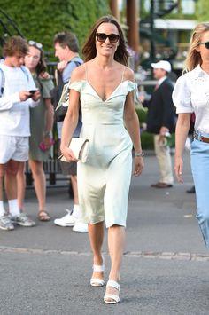 Pippa Middleton y su vestido 'off-the-shoulder' en verde menta perfecto para tus planes de verano