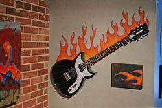 Wall art-teen room music