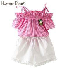 Humor Bear Girls Clothing Sets 2018 Brand Girls Clothes Grid condole belt + Pants Clothes baby girls clothing  #girl #art #love #design #lifestyle #cute #outfit #dress #instagood #moda Pants Outfit, Outfit Sets, Bear Girl, Clothing Sets, Baby Girls, Boho Shorts, Outfit Of The Day, Grid, Girl Outfits