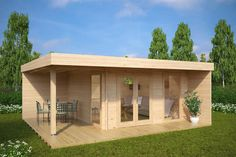 Hansa Lounge XL Is The Cream Of The Crop Of Our Modern Garden Buildings.  Large