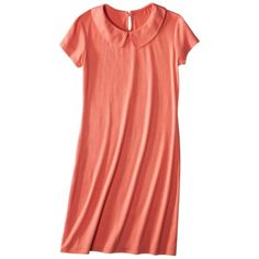 Jersey Peter Pan Collar Dress - Osage Orange - $24.99