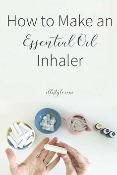 Making an Essential Oil Inhaler is so easy! Check out the video tutorial for all the details.