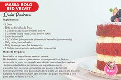 Bolo Red Velvet Receita, Bolo Nacked, Bolo Fit, Red Valvet, Diy Food, Waffles, Candy, Breakfast, Desserts