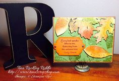 ICS Blog Hop - Fall for All, #Stampinup, Vintage Leaves, Joseph's Coat Technique, Sentiment from Lighthearted Leaves