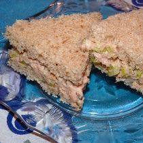Tuna Salad and Celery Tea Sandwich Recipe