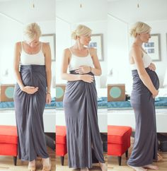 Twisted Maxi Skirt -- styled above the bump -- I'm a fan!