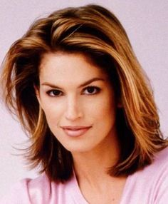 nice Cindy Crawford Current, Medium, Short, Layered Hairstyles Pictures