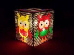 Do it yourself Lampe aus Bügelperlen collage 12