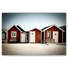 small red cottages