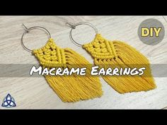 Most recent Pictures Macrame diy jewelry Ideas DIY Macrame Earrings Tutorial, Earring Tutorial, Bracelet Tutorial, Diy Boucle D'oreille, Jewelry Crafts, Handmade Jewelry, Earrings Handmade, Jewelry Ideas, Magic Knot