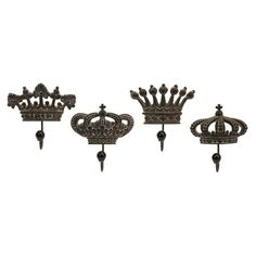 I pinned this 4 Piece Regent's Crown Hook Set from the Accents Under $50 event at Joss and Main!