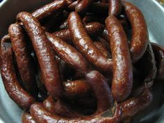 Homemade sausages - Domácí klobásky - Meg v kuchyni Sausage Recipes, Cooking Recipes, Czech Recipes, Beef Ribs, Smoking Meat, Food 52, Charcuterie, Bacon, Food And Drink