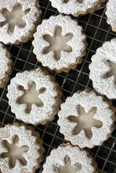 Christmas - Eggnog Snowflake Linzer Cookies