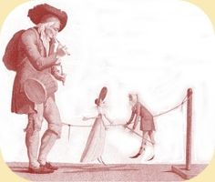 street entertainers marionettes 1797