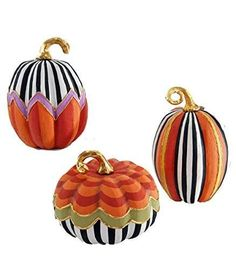 Artsy and colorful, snazzy too! Making your Halloween celebration a fun fantasy! Arrange patterned pumpkins on different levels for decorative appeal. Shop now! Pumpkin Art, Pumpkin Crafts, Fall Crafts, Holiday Crafts, Holiday Fun, Pumpkin Ideas, Pumpkin Painting, Holiday Decor, Halloween Christmas