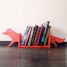 """Wooden """"fox"""" shelf / Мебель ручной работы. Заказать Полка-подставка для книг деревянная Лисичка. Чердак. Ярмарка Мастеров. Полка из дерева, для книг, лисичка"""