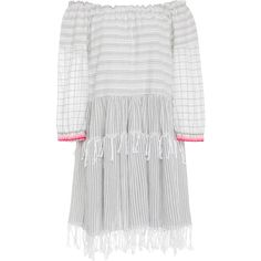 Lemlem Anan Off-The-Shoulder Cotton-Blend Gauze Dress (5.264.170 IDR) ❤ liked on Polyvore featuring dresses, stripe, lemlem dress, off the shoulder dress, striped dress, off shoulder dress and striped off the shoulder dress