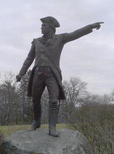 General John Stark Statue in Bennington, VT.  Battle of Bennington and Battle of Bunker Hill - http://www.ramblingweb.com/2013/04/photographs-of-bennington-vermont.html