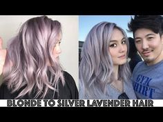 Blonde to Silver Lavender Hair Transformation - YouTube