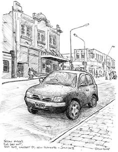 Sketchy Drawings: Nissan Micra's Big Day Out