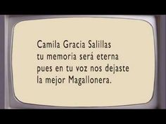 """La Magallonera"" completa, por Camila Gracia - YouTube Dog Tags, Youtube, The Voice, Thanks, Fiestas, Youtubers, Youtube Movies"