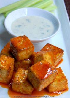 Vegan Buffalo Style Roasted Tofu