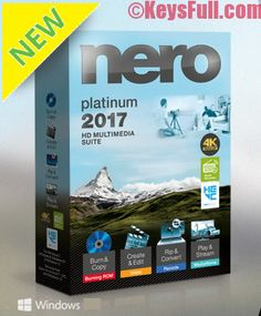 Nero Platinum 2017 Serial Key Crack Full Version is a latest compact disc/DVD and media burning, editing, copying, creating ripping and converting software. Editing Suite, Copy Editing, Video Editing, Tapas, Adobe Photoshop Lightroom, Microsoft Office, Mac Os, Play, Multimedia