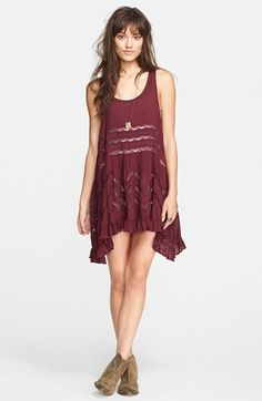 Free People Lace Trim Trapeze Slipdress available at #Nordstrom in color tea