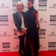 Fashion Monitor's Hannah White in Corrie Nielsen at the Scottish Fashion Awards 2012