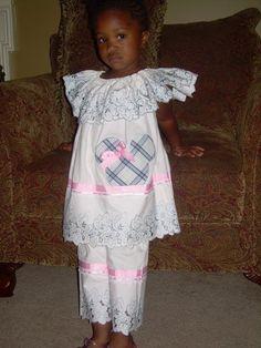 Girls Pillowcase Dress Capri Pants Minnie by ibelieveicandesigns, $60.00