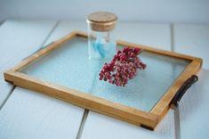 100円ショップのガラスのまな板でおやつトレー