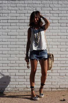 trend alert: espadrilles Casual Summer Outfits, Short Outfits, Boho Outfits, Spring Outfits, Fashion Outfits, Fashion Killa, Look Fashion, Summer Wear, Spring Summer Fashion