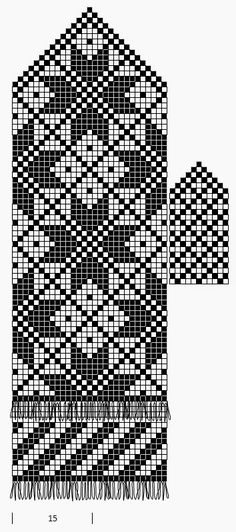 Mustrilaegas: A Kudumine / Knitting. Great collection of patterns from old magaz… - Knitting Charts Knitted Mittens Pattern, Fair Isle Knitting Patterns, Crochet Mittens, Knitting Charts, Weaving Patterns, Knitted Gloves, Loom Knitting, Knitting Stitches, Knitting Designs