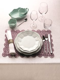 Instantly update your dining room decor with new crockery, cutlery and coasters.