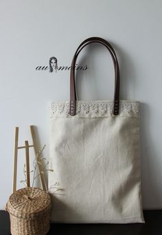 AU MOINS original design cotton and linen fresh forests of retro bags