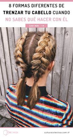 Tal vez no tienes un buen día con tu cabello y no te gusta como se ve suelto, la solución fácil, elegante y que nunca pasará de moda son las trenzas. Desde una sencilla, las holandesas, francesas, recogidas, en corona o con el cabello suelto siempre será un peinado que no te fallará. #PinCCModa #Moda #Braids #Trenzas #Peinados #Hair