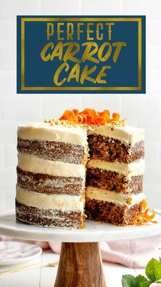 Box Cake Recipes, Sheet Cake Recipes, Cake Recipes From Scratch, Delicious Cake Recipes, Yummy Cakes, Baking Recipes, Moist Carrot Cakes, Best Carrot Cake, Cream Cheese Recipes