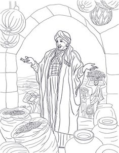 Parable of the rich fool coloring page parables pinterest for The rich fool coloring page
