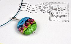 Items similar to Glass tricolor round-flowery necklace on Etsy Glass Pendants, Glass Beads, Pink Flowers, Sterling Silver Rings, Arts And Crafts, Etsy, Sterling Silver Thumb Rings, Art And Craft, Crafts