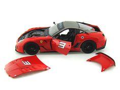 Ferrari 599XX #3 1/18 Red - Hotwheels