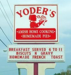 Image detail for -Yoder's is one of a few Amish-style restaurants in Sarasota FL Amish Country, Country Life, Homemade French Toast, Lancaster County Pennsylvania, Amish House, Amish Culture, Amish Community, Places In Florida