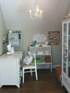 Craft Nook-similar to my idea for a small nook in the bedroom